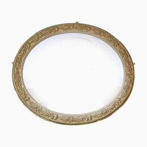 Large Oval Overmantle Wall Mirror, 1920s