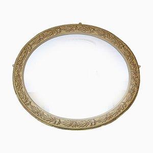 Specchio da parete grande ovale, anni '20