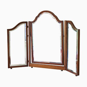 Mahogany Triple Swing Dressing Table Mirror, 1920s