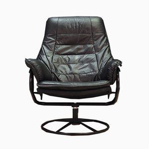 Danish Leather Armchair, 1970s