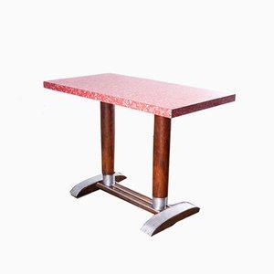 Mesa de bistró con tablero laminado, años 50