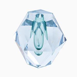 Jarrón sueco de cristal tallado de Asta Strömberg para Strömbergshyttan, años 50