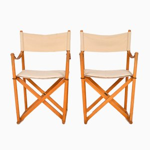 Folding Armchairs by Mogens Koch for Carl Hansen & Søn, 1968, Set of 2