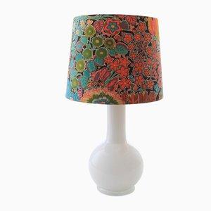 Moderne skandinavische Tischlampe aus Opalglas von Uno & Östen Kristiansson für Luxus, 1960er