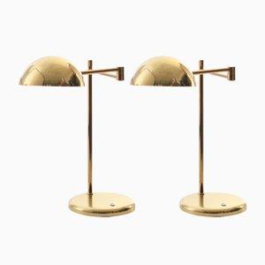 Lampes de Bureau Scandinaves Modernes de Örsjö Industri AB, années 80, Set de 2