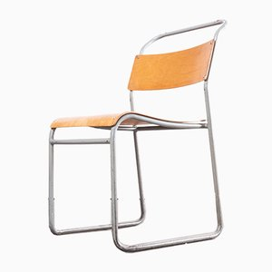 Tubular Metal Stacking Dining Chair from Remploy, 1950s