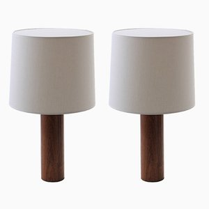 Scandinavian Modern Table Lamps by Uno & Östen Kristiansson for Luxus, 1950s, Set of 2