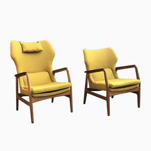 Armchairs and Coffee Table by Aksel Bender Madsen for Bovenkamp, 1950s, Set of 3