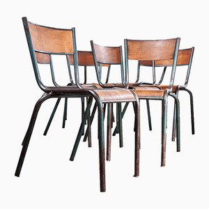 Mullca Dining Chairs by Robert Muller and Gaston Cavaillon, 1950s, Set of 8