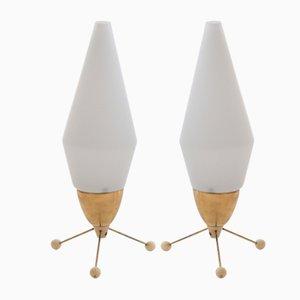 Lampade da tavolo Rocket di Stanislav Kučera per Kamenický Šenov, anni '70, set di 2