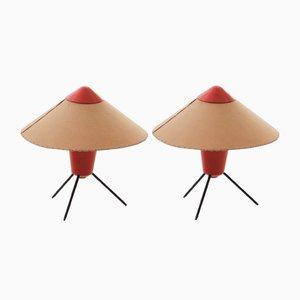 Lampes de Bureau par Josef Hurka pour Kamenický Šenov, années 60, Set de 2