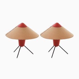 Table Lamps by Josef Hurka for Kamenický Šenov, 1960s, Set of 2