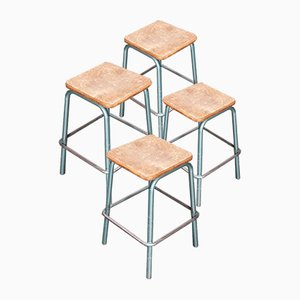 Industrial Stacking Mullca Stools from Mullca, 1950s, Set of 4