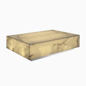 Mesa de centro iluminable de alabastro de Jacobo Ventura