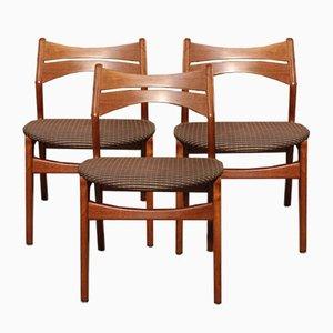 Modell 310 Esszimmerstühle im skandinavischen Stil von Erik Buch für Chr. Christensens Møbelfabrik, 1960er, 3er Set