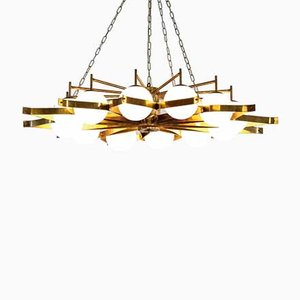 Vintage Italian Chandelier attributed to Gio Ponti, 1950s