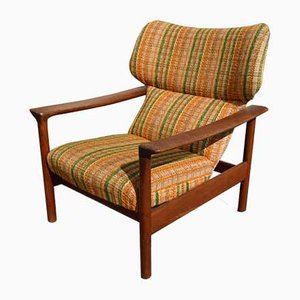Vintage Danish Teak Club Chair from Dyrlund