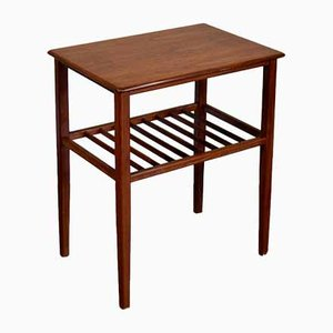 Mid-Century Teak Slatted Side Table, 1960s