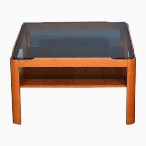 Mid-Century Teak and Smoked Glass Coffee Table from Myer, 1960s