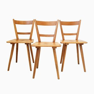 Vintage Oak Side Chairs by Adolf Schneck for Schäfer, 1940s, Set of 3