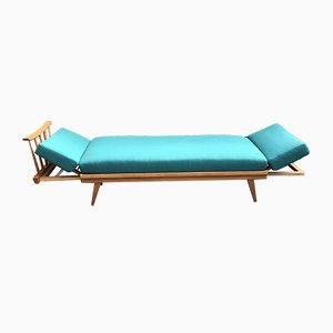 Beech Extendable Daybed by Knoll, Wilhelm for Antimott Knoll, 1950s