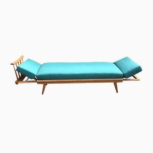 Sofá cama extensible de haya de Knoll, Wilhelm para Antimott Knoll, años 50