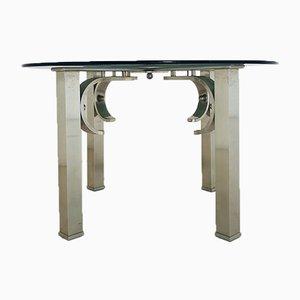 Tavolino da caffè vintage in acciaio, anni '70