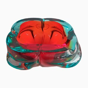 Vintage Murano Glass Ashtray, 1960s