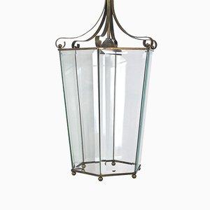 Italian lantern Ceiling Lamp, 1940s