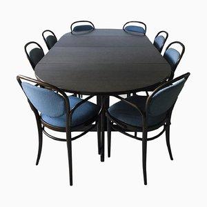 Table de Salle à Manger à Rallonge et Chaises de Thonet, années 80