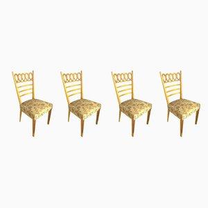 Chaises de Salon par Osvaldo Borsani, années 40, Set de 4