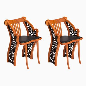 Model Lenora Dining Chairs by Bořek Šípek for Driade, 1990s, Set of 2