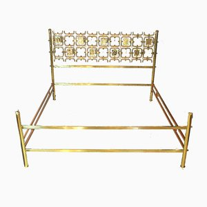 Brass Bed by Osvaldo Borsani for Atelier Borsani Varedo, 1960s