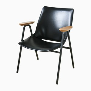 Black Shell Lounge Chair by Niko Kralj for Stol Kamnik, 1970s