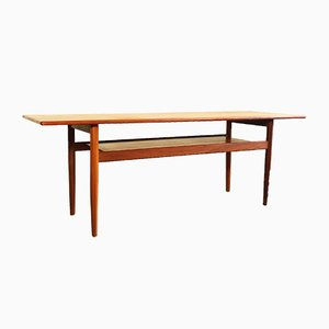 Danish Teak Coffee Table from Hans J. Wegner, 1960s
