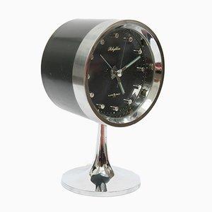 Reloj alarma Mid-Century era espacial de Rhythm, años 60