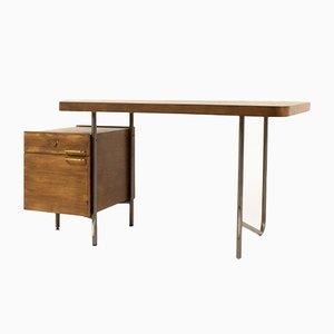 Schreibtisch aus Eschenholz & Stahl von Georges Frydman, 1960er