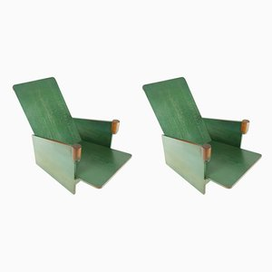Modernist Table and Armchairs Set, 1930s, Set of 3