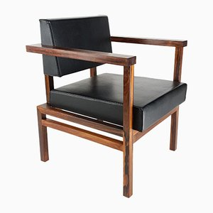 Modernist Rosewood Armchair by Wim den Boon, 1964