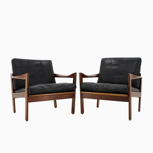Teak Armchairs by Illum Wikkelsø, 1960s, Set of 2