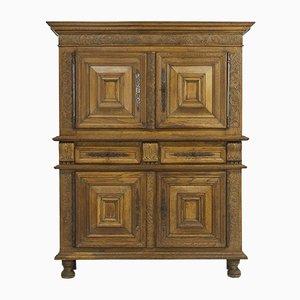Antique Flemish Carved Oak Cabinet