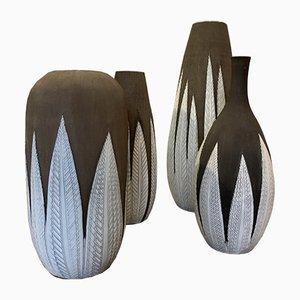 Vasen von Anna Lisa thomson für Upsala Ekeby, 1980er, 4er Set