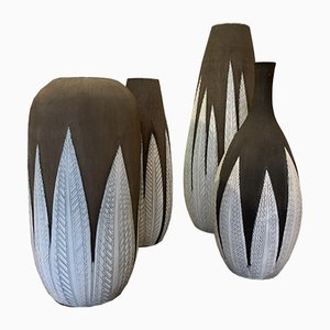 Vases by Anna Lisa thomson for Upsala Ekeby, 1980s, Set of 4