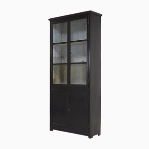 19th Century French Ebonized Wood and Glass Cabinet