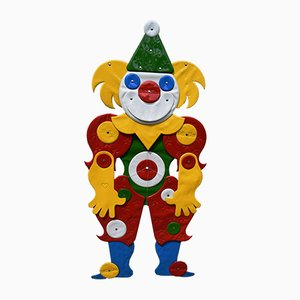 Softline Jumping Jack Clown and Design Drawing by Günther Kieser for Zapfdesign, 1970s