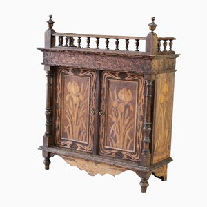 Antique Pokerwork Cabinet