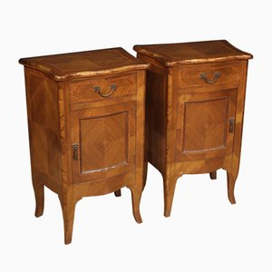 Louis XV Style Rosewood Bedside Tables, 1950s, Set of 2