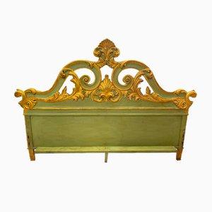 Antikes Kopfteil aus vergoldetem Holz