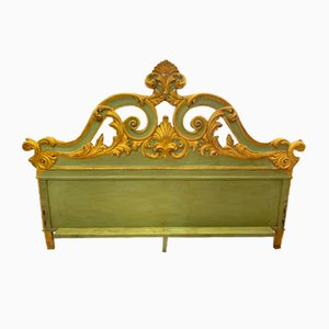 Antique Gilded Wood Headboard