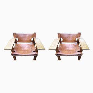 Spanish Armchairs by Børge Mogensen for Fredericia, 1960s, Set of 2